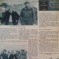 Coleccionismo de Revista Hola: RECORTE REVISTA HOLA Nº 1070 1965 LUCIA BOSE Y LUIS MIGUEL DOMINGUIN. Lote 175475799