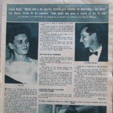 Coleccionismo de Revista Hola: RECORTE REVISTA HOLA Nº 1065 1965 LUCIA BOSE. LUIS MIGUEL DOMINGUIN. Lote 175516767