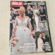 Coleccionismo de Revista Hola: REVISTA HOLA JULIO 2019 BODAS BELEN ESTEBAN MARIA POMBO AINHOA ARTETA . Lote 175642139