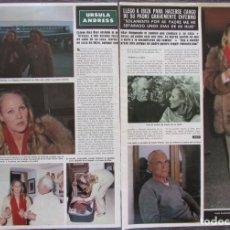 Coleccionismo de Revista Hola: RECORTE REVISTA HOLA Nº 1903 1981 URSULA ANDRESS 4 PGS. Lote 175792073