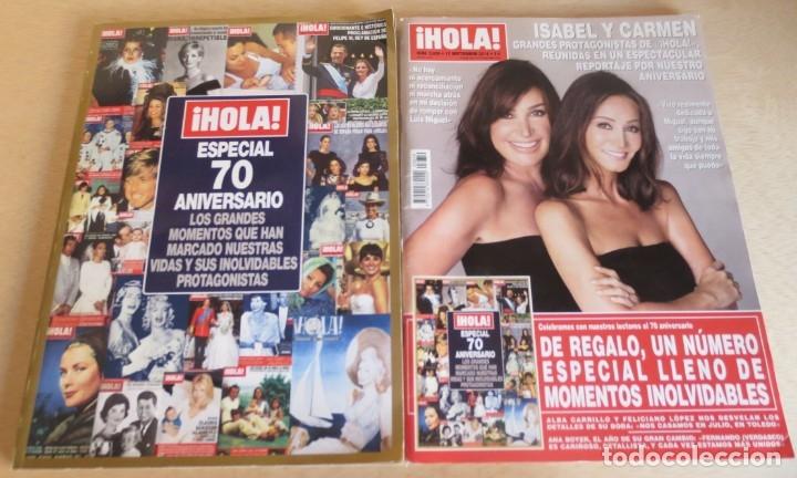 REVISTA HOLA Nº 3659 MARTINEZ BORDIU - PREYSLER + ESPECIAL 70 ANIVERSARIO (Coleccionismo - Revistas y Periódicos Modernos (a partir de 1.940) - Revista Hola)