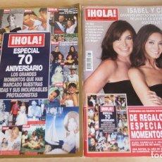 Coleccionismo de Revista Hola: REVISTA HOLA Nº 3659 MARTINEZ BORDIU - PREYSLER + ESPECIAL 70 ANIVERSARIO. Lote 175886939
