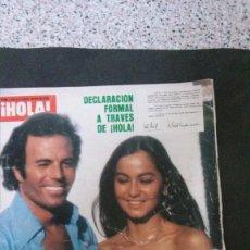 Coleccionismo de Revista Hola: JULIO IGLESIAS-CAROLINA DE MONACO-RAFFAELLA CARRA-MARIA JOSE CANTUDO-DEMIS ROUSSOS-ROCIO DURCAL . Lote 176350500
