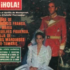Coleccionismo de Revista Hola: HOLA 1949 FRANCIS FRANCO/MARIA SUELVES FIGUEROA BODA 25 PAG 119 FOT - SYLVIA KRISTEL 1 PAG. 5 FOT. Lote 176373797
