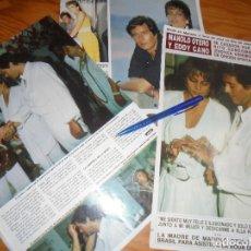 Collectionnisme de Magazine Hola: RECORTE : MANOLO OTERO Y EDDY CANO, BODA POR EL RITO CANDOMBLE. HOLA, JULIO 1986 (). Lote 176495558