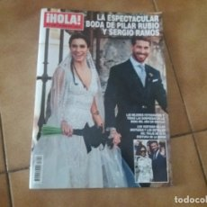 Coleccionismo de Revista Hola: HOLA. BODA DE SERGIO RAMOS Y PILAR RUBIO. PERFECTO ESTADO. 2019.. Lote 176500413
