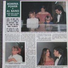 Coleccionismo de Revista Hola: RECORTE REVISTA HOLA Nº 1960 1982 ROMINA POWER Y AL BANO. Lote 176623279