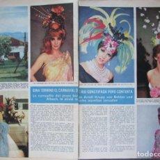 Coleccionismo de Revista Hola: RECORTE HOLA Nº 1175 1967 GINA LOLLOBRIGIDA. Lote 178123774