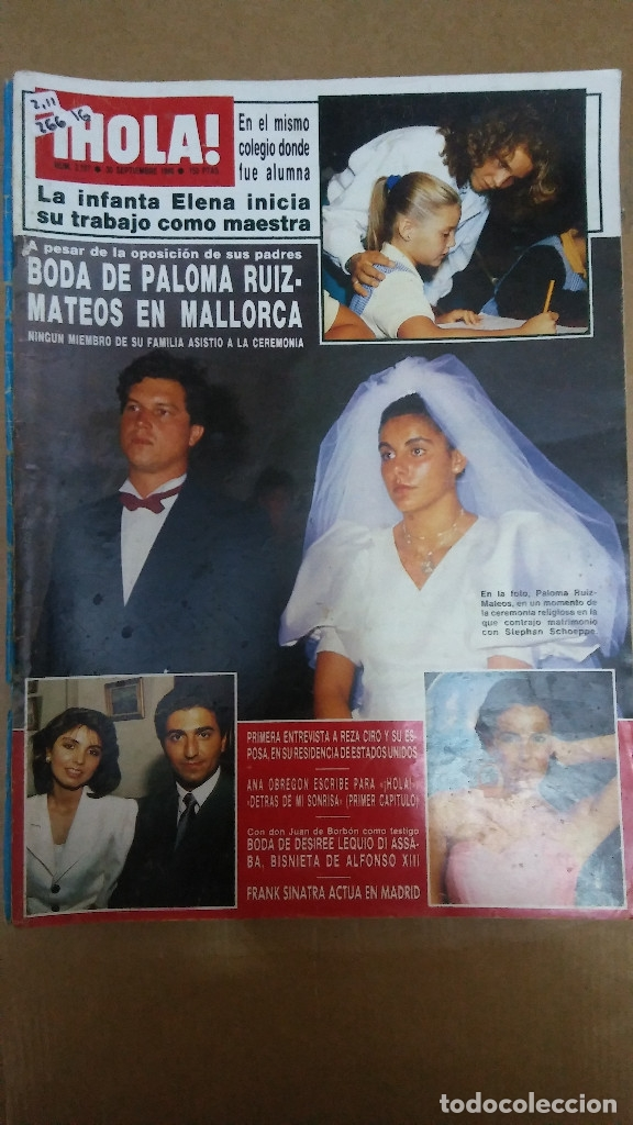 26616 - REVISTA HOLA - Nº 2197 - EN PORTADA RUIZ MATEOS Y STHEPHAN SCHOEPPE (Coleccionismo - Revistas y Periódicos Modernos (a partir de 1.940) - Revista Hola)