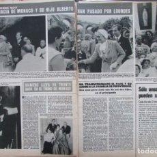 Coleccionismo de Revista Hola: RECORTE REVISTA HOLA Nº 1821 1979 GRACE KELLY, GRACIA DE MONACO Y ALBERTO DE MONACO. . Lote 178953340