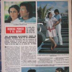 Coleccionismo de Revista Hola: RECORTE REVISTA HOLA Nº 1974 1982 ROMINA POWER Y AL BANO. Lote 179162166