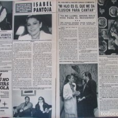Coleccionismo de Revista Hola: RECORTE REVISTA HOLA Nº 2174 1986 ISABEL PANTOJA. PEDRO OSINAGA, . Lote 179249901