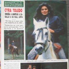 Coleccionismo de Revista Hola: RECORTE REVISTA HOLA Nº 2174 1986 CYRA TOLEDO 2 PGS. Lote 179250352
