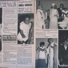 Coleccionismo de Revista Hola: RECORTE REVISTA HOLA Nº 2164 1986 ANGELA CARRASCO. ROCIO BANQUELLS. Lote 179251598