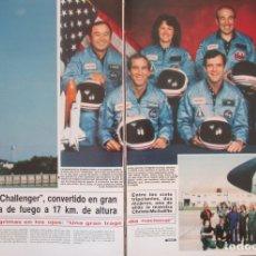 Coleccionismo de Revista Hola: RECORTE REVISTA HOLA Nº 2164 1986 EXPLOSION TRAGEDIA CHALLENGER 18 PGS. Lote 179251728