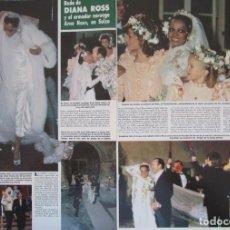 Coleccionismo de Revista Hola: RECORTE REVISTA HOLA Nº 2164 1986 DIANA ROSS. Lote 179251855