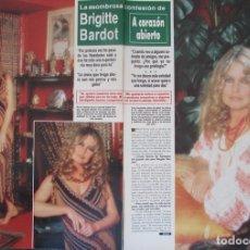 Coleccionismo de Revista Hola: RECORTE REVISTA HOLA Nº 2164 1986 BRIGITTE BARDOT 6 PGS. Lote 179251947