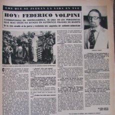 Coleccionismo de Revista Hola: RECORTE REVISTA HOLA Nº 1887 1980 FEDERICO VOLPINI. Lote 179252581