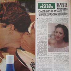 Coleccionismo de Revista Hola: RECORTE REVISTA HOLA Nº 1887 1980 LOLA FLORES 2 PGS. Lote 179252665