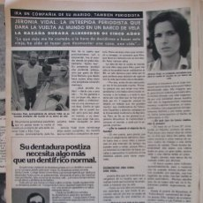 Coleccionismo de Revista Hola: RECORTE REVISTA HOLA Nº 1887 1980 JERONIA VIDAL. Lote 179252828