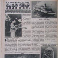 Coleccionismo de Revista Hola: RECORTE REVISTA HOLA Nº 1887 1980 HUNDIMIENTO TRANSATLÁNTICO PRINSENDAM. MISS TENERIFE. Lote 179252945