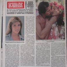 Coleccionismo de Revista Hola: RECORTE REVISTA HOLA Nº 1887 1980 CAROLINA DE MONACO. NORMA DUVAL. Lote 179253483