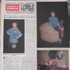 Coleccionismo de Revista Hola: RECORTE REVISTA HOLA Nº 1887 1980 ANGELA ACOULAR 2 PGS. Lote 179253550