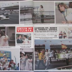 Coleccionismo de Revista Hola: RECORTE REVISTA HOLA Nº 1887 1980 EMILIO DE VILLOTA 4 PGS. Lote 179253775