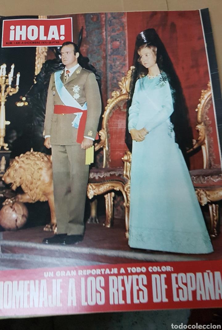 REVISTA HOLA HOMENAJE A LOS REYES DE ESPAÑA 6 DICIEMBRE 1975 (Coleccionismo - Revistas y Periódicos Modernos (a partir de 1.940) - Revista Hola)