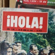Coleccionismo de Revista Hola: REVISTA HOLA 28 ABRIL 1969 ENTIERRO DE LA REINA VICTORIA EUGENIA. Lote 180198555