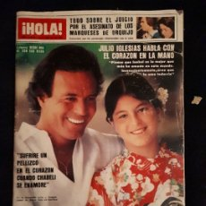 Coleccionismo de Revista Hola: REVISTA HOLA Nº 2028. JULIO IGLESIAS, BROOKE SHIELDS, JUICIO ASESINATO MARQUESES URQUIJO.. Lote 180283430