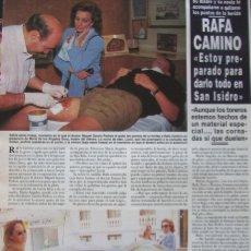 Coleccionismo de Revista Hola: RECORTE REVISTA HOLA Nº 2647 1995 RAFA CAMINO. Lote 180322057