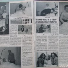 Coleccionismo de Revista Hola: RECORTE REVISTA HOLA Nº 1954 1982 CARMEN SEVILLA. Lote 181482267
