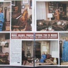 Colecionismo da Revista Hola: RECORTE REVISTA HOLA Nº 1843 1979 MARIA DOLORES PRADERA 3 PGS. Lote 181542945