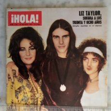Coleccionismo de Revista Hola: HOLA - LIZ TAYLOR - SOFIA LOREN - SHIRLRY MCLAINE - URSULA ANDRESS - BRIGITTE - ROMINA Y ALBANO. Lote 181979451
