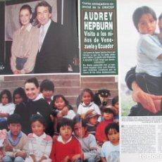 Coleccionismo de Revista Hola: RECORTE REVISTA HOLA Nº 2308 1988 AUDREY HEPBURN 3 PGS. Lote 182174078