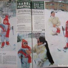 Coleccionismo de Revista Hola: RECORTE REVISTA HOLA Nº 2159 1986 ISABEL PANTOJA 8 PGS. Lote 182247322