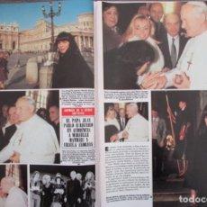 Coleccionismo de Revista Hola: RECORTE REVISTA HOLA Nº 2049 1983 MIREILLE MATHIEU Y URSULA ANDRESS. Lote 182256617