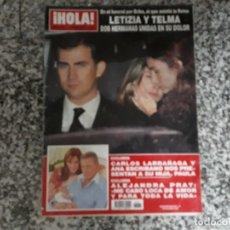 Collectionnisme de Magazine Hola: LETIZIA Y TELMA FUNERAL, CARLOS LARRAÑAGA, ETC..HOLA 3264. Lote 182396566