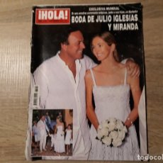 Coleccionismo de Revista Hola: BODA DE JULIO IGLESIAS ETC..HOLA 3449. Lote 182400171