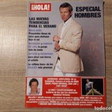 Coleccionismo de Revista Hola: HUGH GRAN ,PIERCE BROSMAN ETC.HOLA ESPECIAL HOMBRES. Lote 182400723