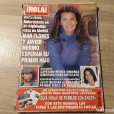 Coleccionismo de Revista Hola: MAR FLORES,CAYETANO RIBERA, JULIO IGLESIAS ETC.HOLA 3061. Lote 182401305