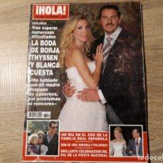 Coleccionismo de Revista Hola: BODA DE BORJA THISSEN ETC..HOLA 3299. Lote 182401812