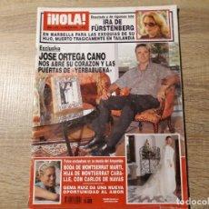 Coleccionismo de Revista Hola: ORTEGA CANO, BODA DE MONTSE MARTI,ETC..HOLA 3238. Lote 182402282