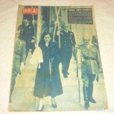 Coleccionismo de Revista Hola: HOLA ! N.604 MARZO 1956. EN PORTADA SEMANA SANTA ESPAÑOLA CON FRANCO Y SU ESPOSA.. Lote 182464622