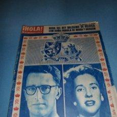 Coleccionismo de Revista Hola: EL ESPECIAL DE HOLA DE LA BODA DE LOS REYES BALDUINO&FABIOLA DE BÉLGICA DICIEMBRE 1960 68 PÁGINAS. Lote 182828706