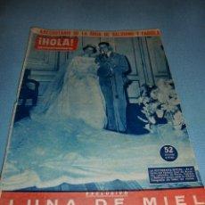 Coleccionismo de Revista Hola: REVISTA HOLA NÚMERO 852 DICIEMBRE 1960 BODA BALDUINO Y FABIOLA. Lote 182828828