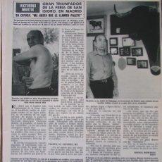Coleccionismo de Revista Hola: RECORTE REVISTA HOLA Nº 1974 1982 VICTORINO MARTIN. Lote 183232850