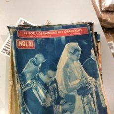 Coleccionismo de Revista Hola: LOTE DE 16 REVISTAS HOLA AÑOS 50-60- VER LAS FOTOS. Lote 183684792