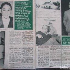 Coleccionismo de Revista Hola: RECORTE REVISTA HOLA Nº 2371 1990 ISABEL PANTOJA. Lote 183895413